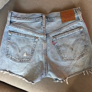 Levi's Shorts - Levi's 501 High-Rise Red Tape Shorts NWOT